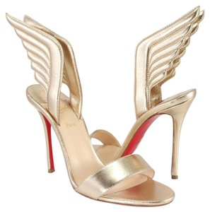 Christian Louboutin Wing Samotresse Wings 100mm light gold Sandals