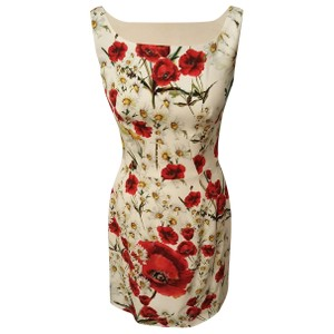 Dolce&Gabbana Sicily Poppy Silk Sleeveless Dress
