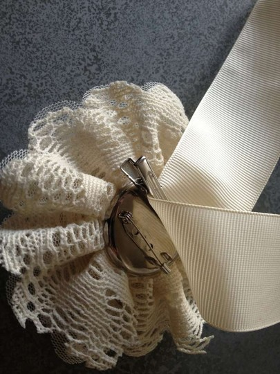 Ivor Ribbon with Detachable Jewel/Lace Flower Sash