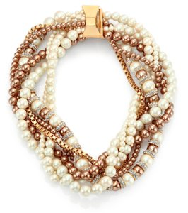 Kate Spade Parlour Pearls Twisted Statement Necklace