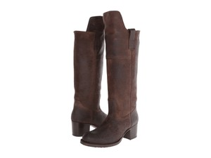 Frye New Leather Knee Dark Brown Boots