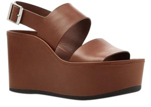 Vince Wedges Leather Saddle Platforms