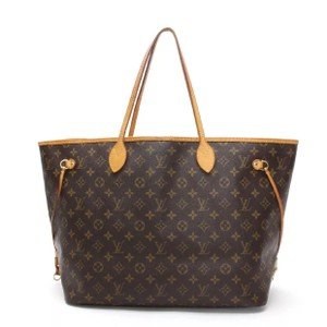Louis Vuitton Monogram Leather Vintage Luxury Tote