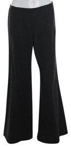 Armani Collezioni Vintage Wide Gray Flare Pants Dark Gray