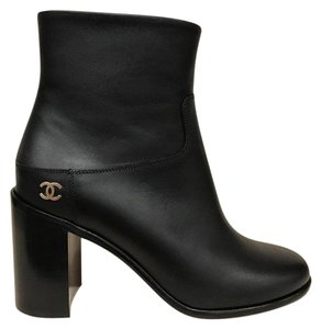 Chanel Calfskin Stiletto Pump black Boots