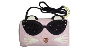 Betsey Johnson ZIP AROUND PINK CAT WALLET