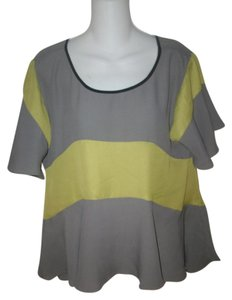 Chelsea & Violet Top Gray and Green