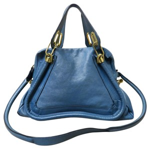 Chloé Chloe Calfskin Paraty Satchel in royalblue
