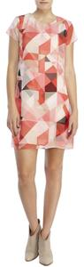 Vince Camuto short dress Pinks Chiffon Layered Vince Geometric on Tradesy