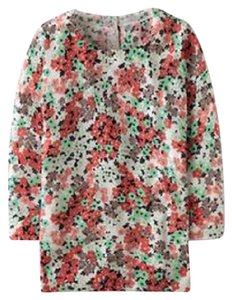 Boden Wool Floral Button Back Knit Retro Sweater
