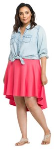 Torrid Hi Lo Casual Skater Date Night Valentine's Day Skirt Red Hilo