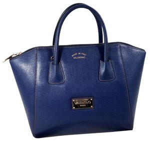 Mario Valentino Satchel in Royal Blue