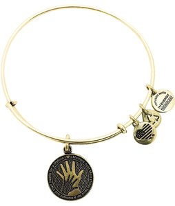 Alex and Ani Alex and Ani Hand And Hand bangle gold color
