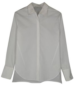 3.1 Phillip Lim Cotton Asymmetric Tuxedo Top White