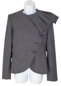 Emporio Armani Ruffled Fitted Overlay Blazer
