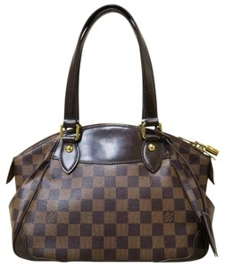 Louis Vuitton Lv Damier Ebene Verona Pm Canvas Shoulder Bag