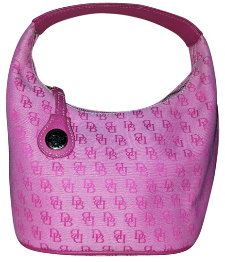 Preload https://img-static.tradesy.com/item/20626061/dooney-and-bourke-vintage-tote-hot-pink-canvas-and-leather-hobo-bag-0-2-540-540.jpg
