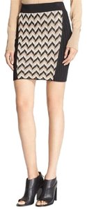 Rag & Bone Elaine Skirt Mini Skirt Black, tan, white