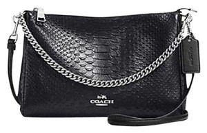 Coach Leather Snake Embossed Cross Body Bag