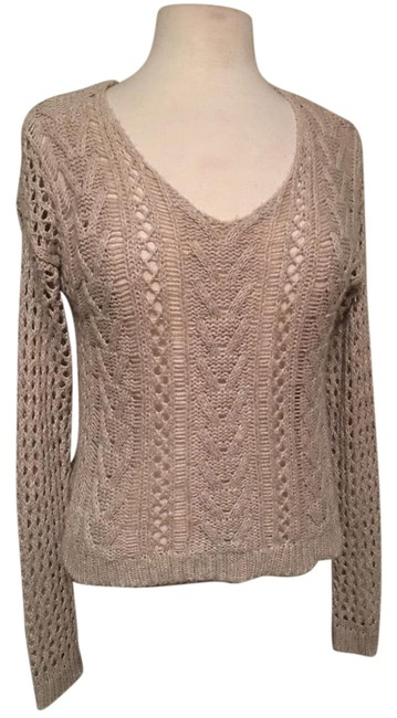 Item - V Neck Long Sleeve Loose Knit Wheat Sweater