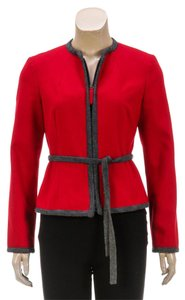 Moschino Red Womens Jean Jacket