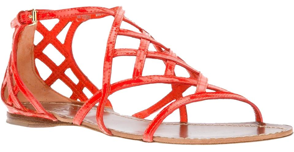 Tory Burch Red Patent Sandals Leather Sandals Patent 51e982