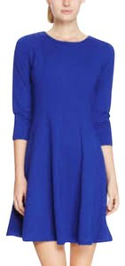 Cupio short dress Blue Cowl Neck Tunic Side Zipper on Tradesy