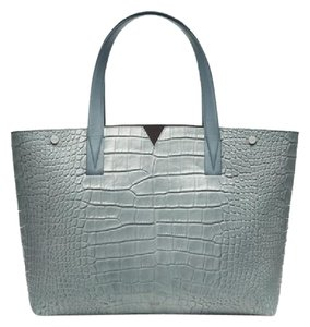 Vince Croc Brand New Tote in Sage (Blue/Grey)