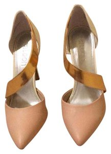 Tildon white rose gold and nude Pumps