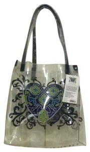 Brighton Tote in navy, green and clear
