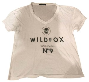 Wildfox T Shirt white with black printing
