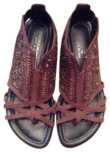 Donald J. Pliner brown and black Sandals