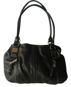 Tignanello Leather Vinyl Silver Hardware Shoulder Bag