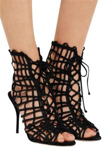 Sophia Webster Lace Up Lace Up Delphine Suede Cage Sandals