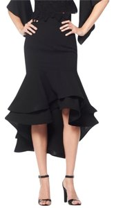 Gracia Ruffled Red Small Skirt Black