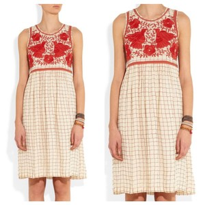 Anthropologie short dress Cream & Red on Tradesy