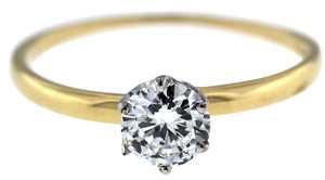 Tiffany & Co. Solid 18K Yellow Gold .52ct Diamond Engagement Ring Size 6.75