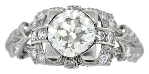 Other EGL USA Platinum Antique Diamond 1.45 CTW Engagement Ring