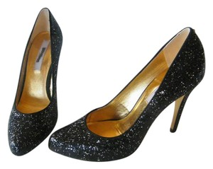 Ted Baker Glitter Leather Lining Black Pumps