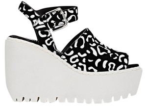 Opening Ceremony Black And Whte Designer Black/White leopard print Wedges