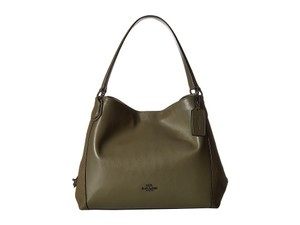Coach Edie 31 Mixed Leather Olive Shoulder Bag