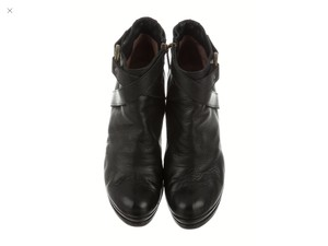 Just Cavalli Leather Designer Black Boots