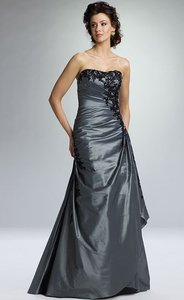 Rina DiMontella Grey/Black Rs1316 Dress