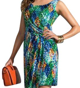 Cartise short dress blue green multi color on Tradesy