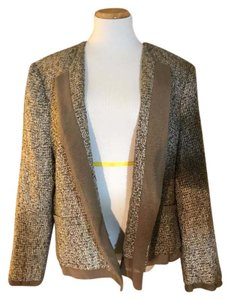 Jones New York Light Brown Tweed Blazer