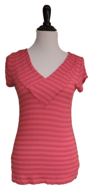 CAbi T Shirt Orange and Pink
