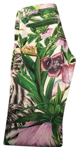 exclusive blank nyc jeans skinny jeans floral design worn for an hour Skinny Jeans-Coated