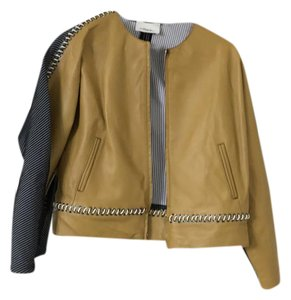 3.1 Phillip Lim mustard/navy Leather Jacket