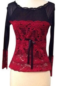 Kay Celine Top black and red