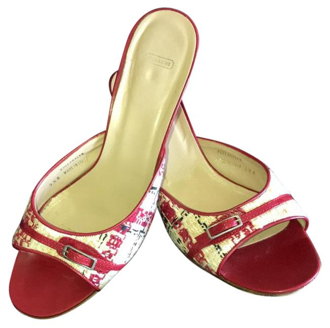 Item - Red Faylyn Boucle Mules/Slides Size US 9.5 Regular (M, B)